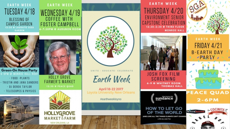 Earth Week 2017 Schedule