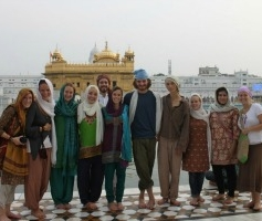 Picture of Loyola students in India